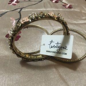 Forever 21 Tri-Pack Gold-colored Bracelets